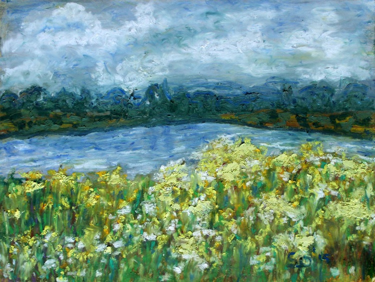 "Summer Landscape  8.5""x11"" (21.59x27.94cm) - Image 0"