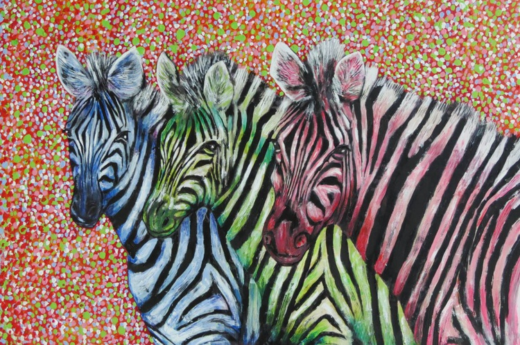 Three Zebras - Image 0