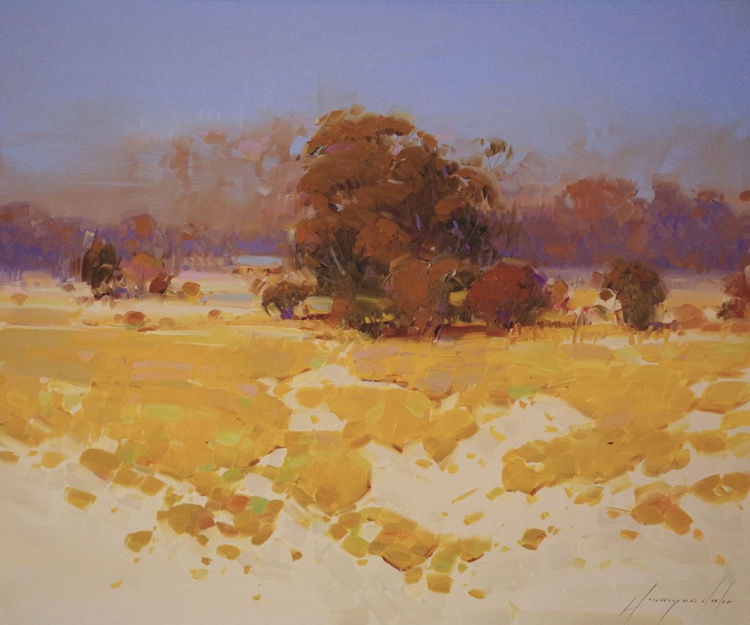 Autumn Palette Landscape  oil painting One of a kind Signed with Certificate of Authenticity - Image 0