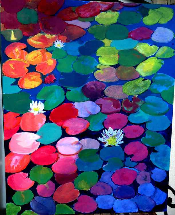 Chaos in waterlilies pond -