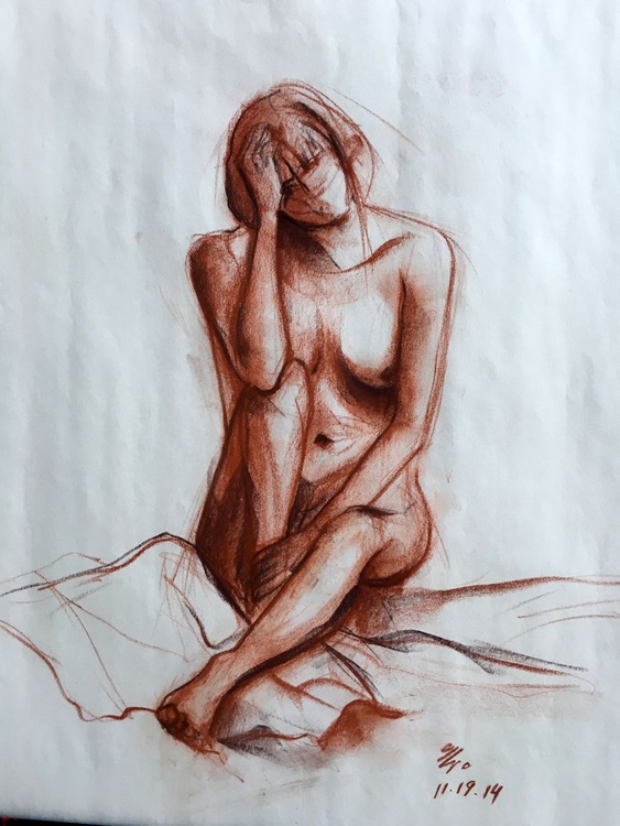 Nude Sitting Woman - Image 0