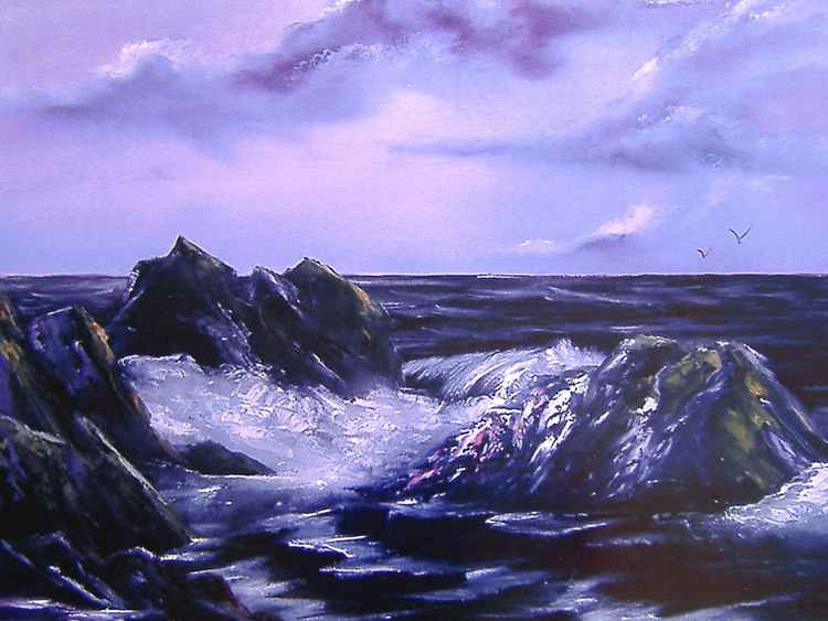 Purple Seascape -