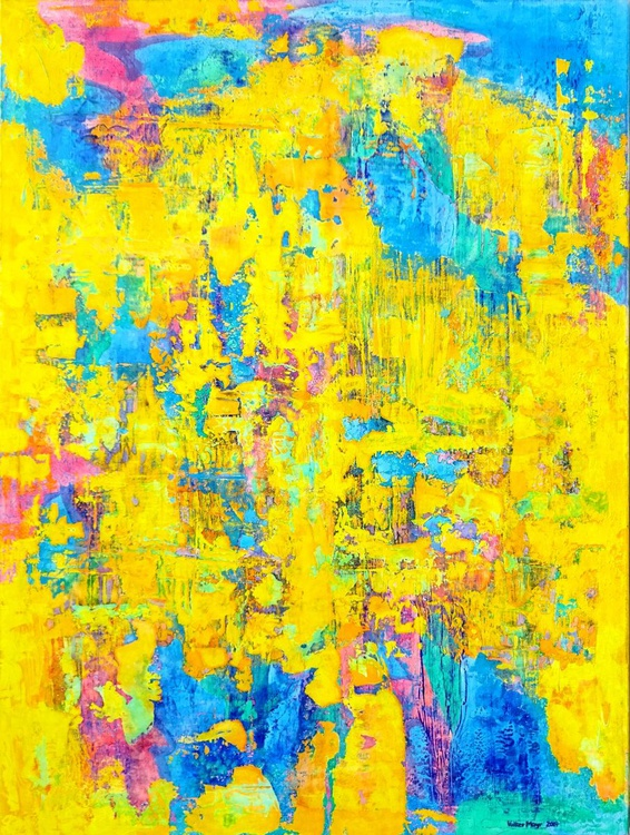 Wildthing - abstract large oil painting 90 x 120 cm - Image 0