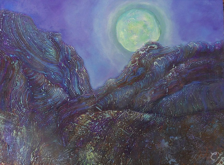 Moonlight and mountains - Image 0