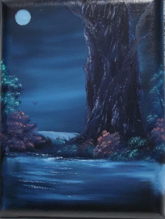 Enchanted Oak by Moonlight. - Image 0