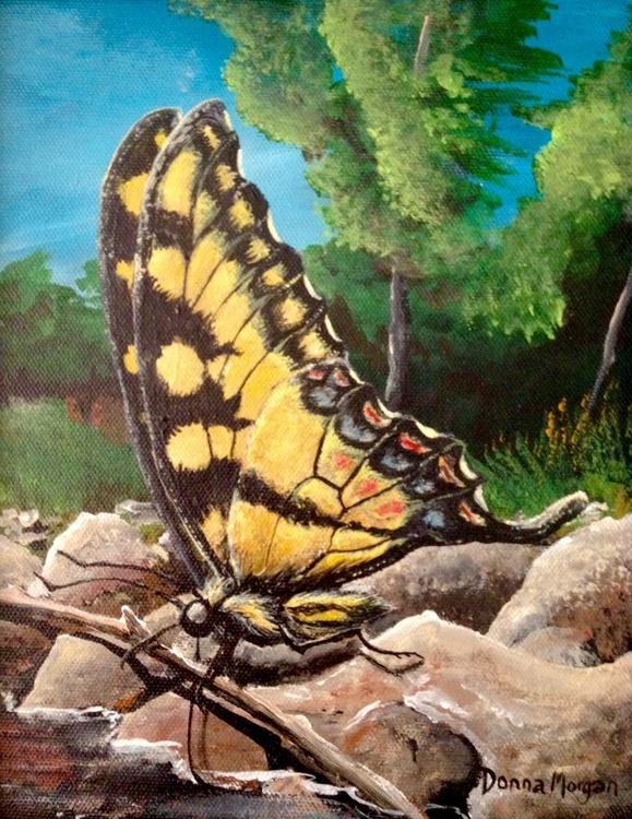 Tiger Swallowtail Sips Sweet Water - Image 0