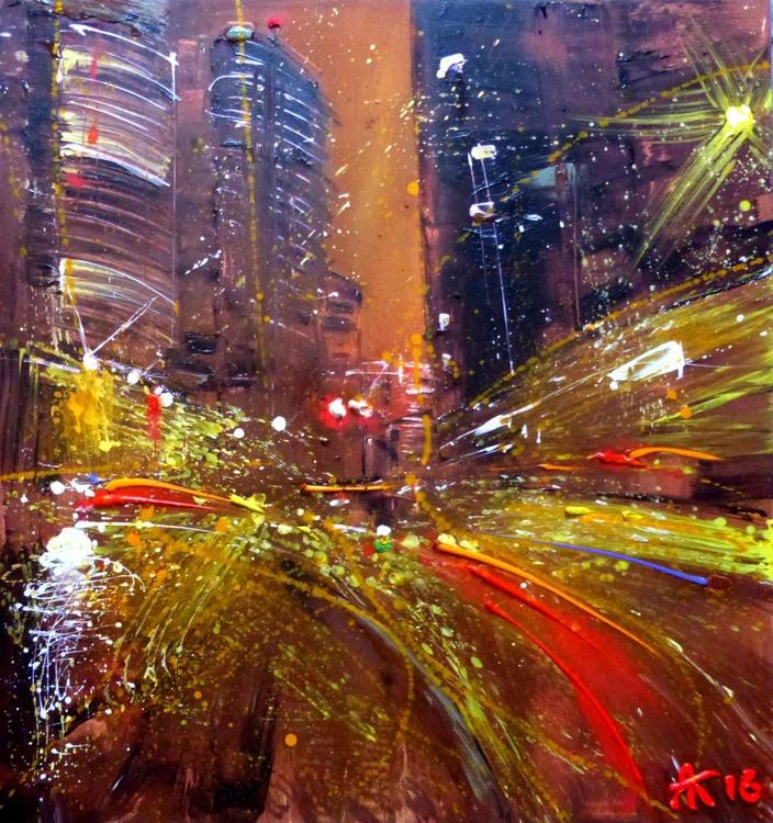 Evening Light, oil painting 90x95 cm - Image 0