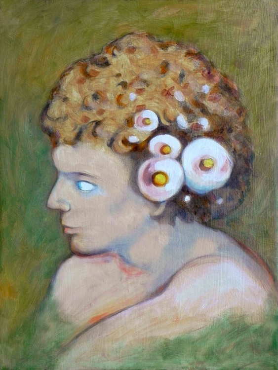 boy with flowers in the hair - Image 0
