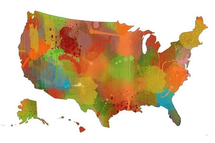 USA Map 9 -
