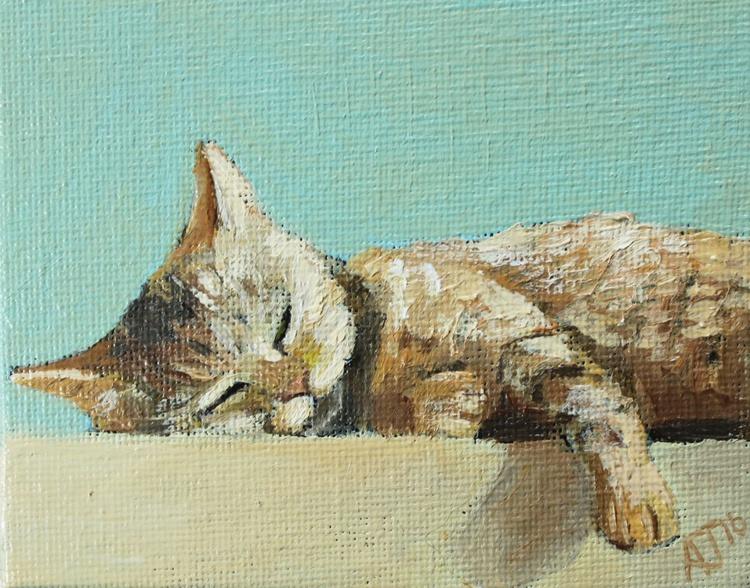 Sleeping Cat + Easel - Image 0