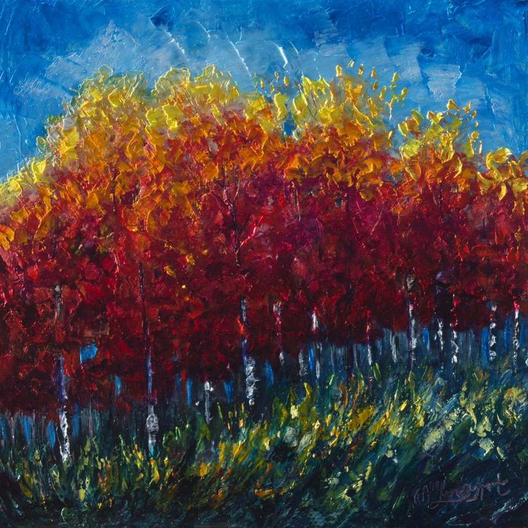 Aspen Grove (Palette Knife) - Image 0