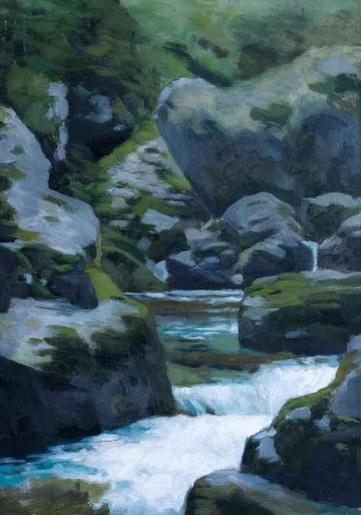 Mini waterfall in Picos de Europa