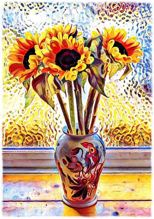 Sunfowers, homage to Van Gogh - Image 0