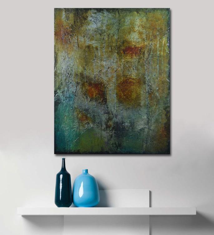 TREASURE HUNTING IV - abstract textural mixed media painting - Image 0