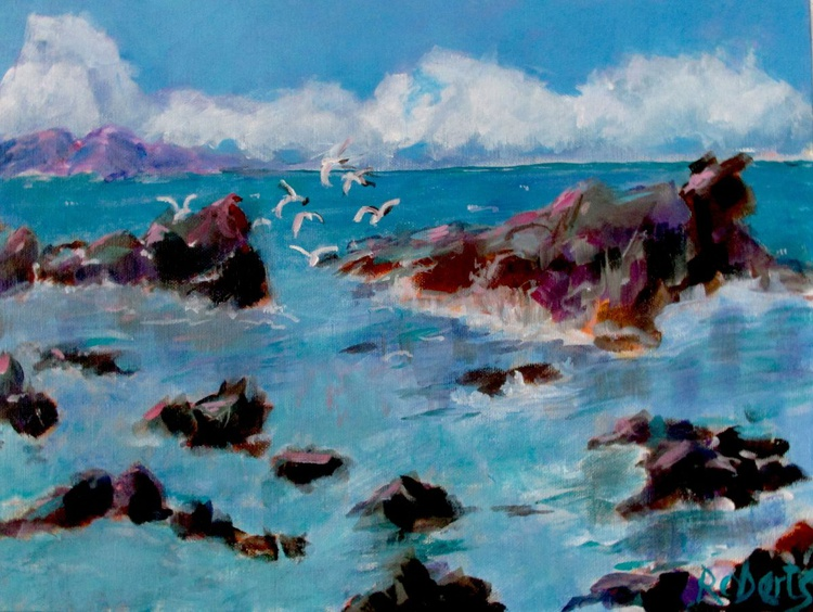 Seascape with seagulls - Image 0