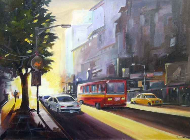 Early Morning Light-Acrylic on Canvas Painting -