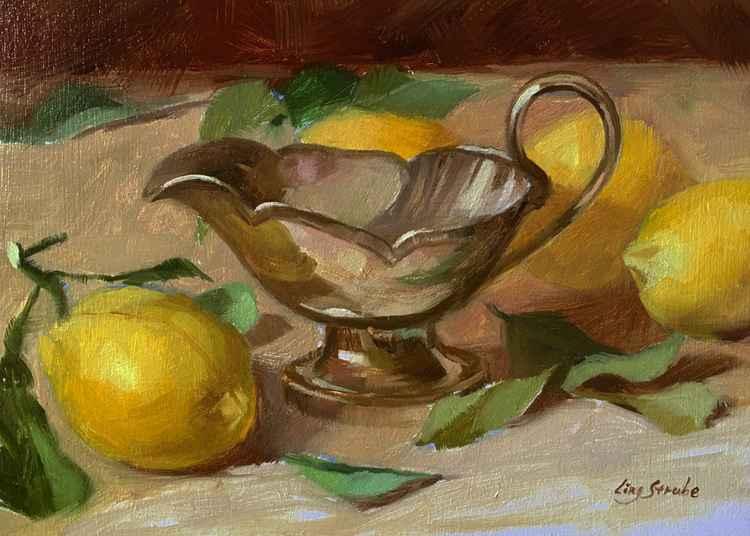 Gravy Boat and Lemons -