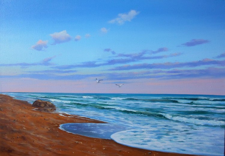 Sea Breeze/Oil on canvas/Free Shipping - Image 0