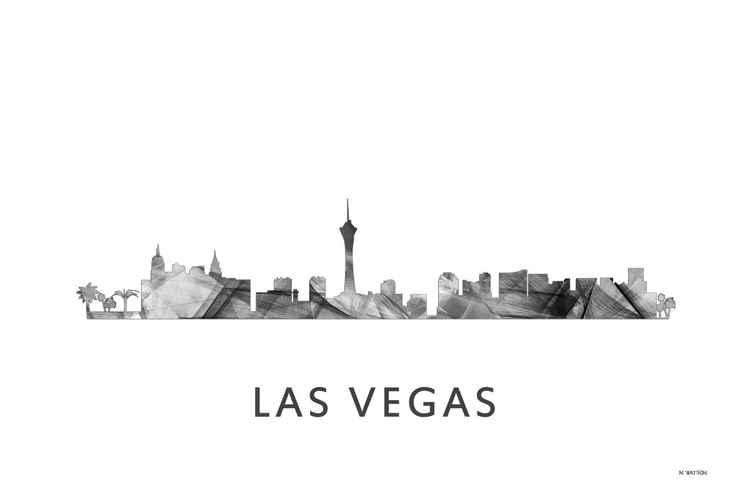 Las Vegas Nevada Skyline WB BW -