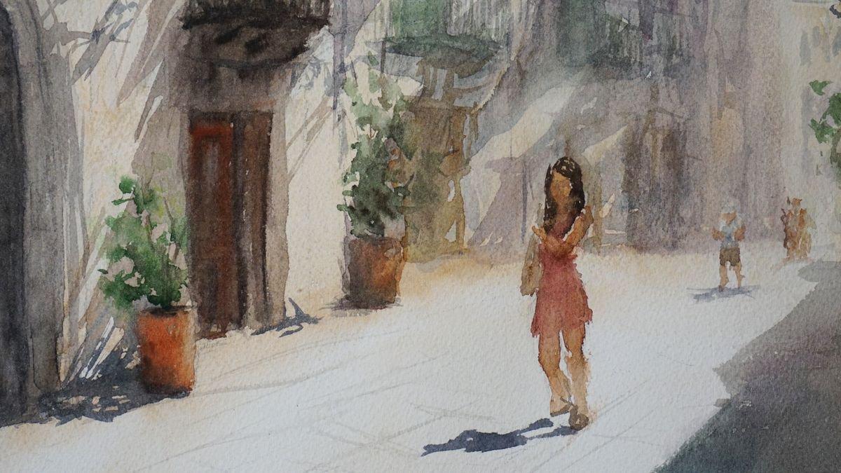 Romantic Italy   Original aquarelle painting   Artfinder