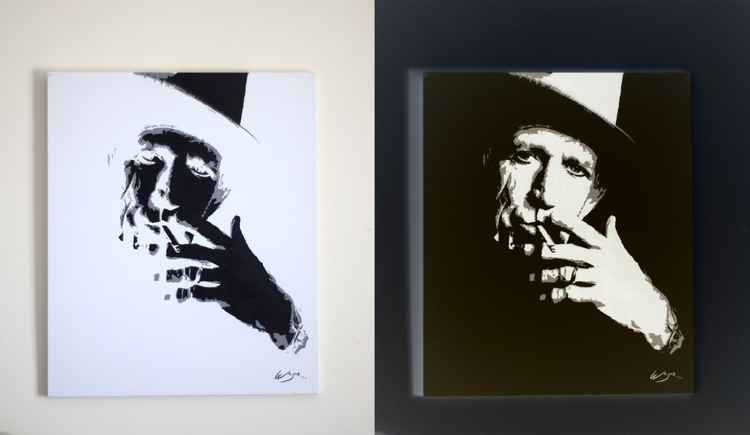 Keith Richards - Inverted Painting