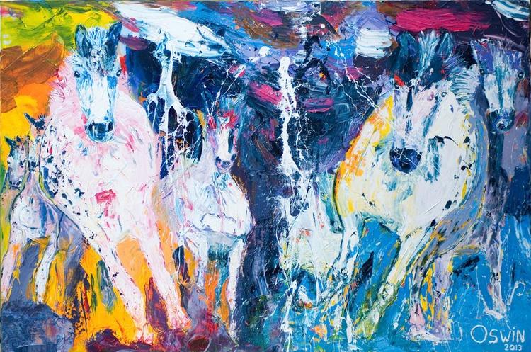 Late night horses - Image 0