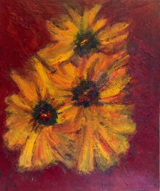 Three Sunny Flowers -