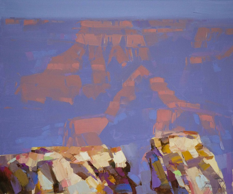 Grand Canyon Contemporary Original oil painting on Canvas Signed - Image 0