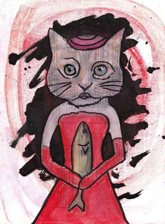 Red cat bride -