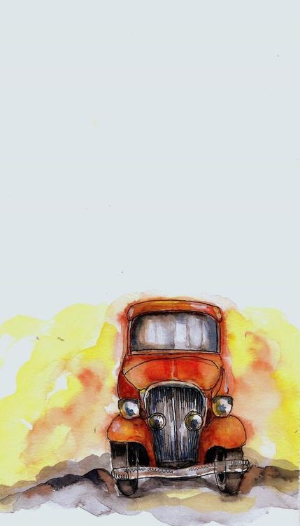 I am an Orange Vintage Car - Image 0