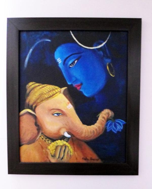 Ganesha and Shiva - Image 0