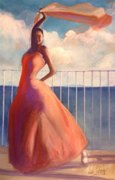 Flamenco Dancer Waving Scarf - Image 0