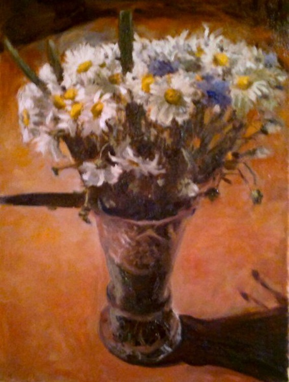 flowers in a glass vase - Image 0