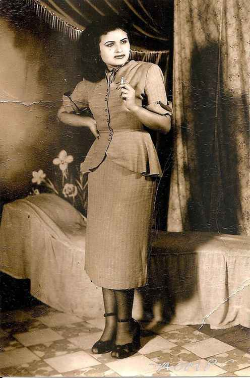 Camerina Smoking, c. 1950 • Herminio Lopez, Foto Estudio Viena • Ltd Edit. Silver Rag Print #1