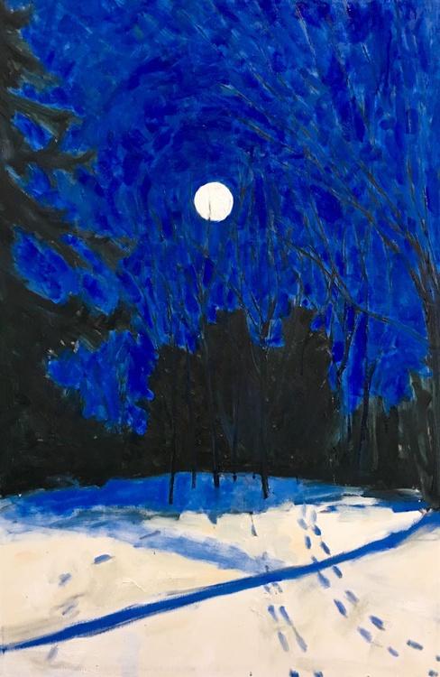 Audacious Moon, Large impressionist landscape - Image 0