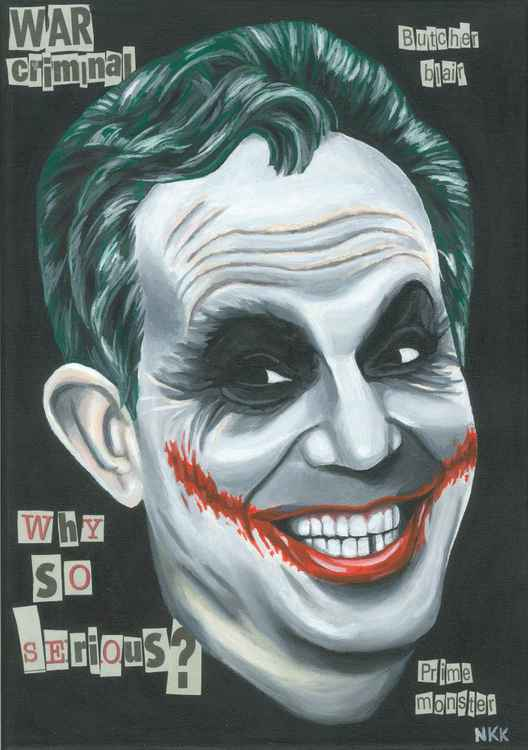 Tony Blair as The Joker. -