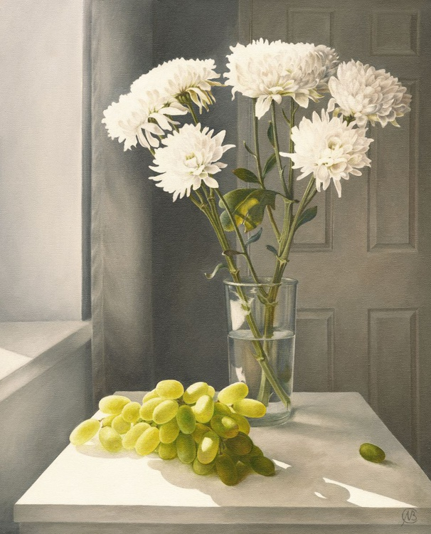 Chrysanthemums and Grapes - Image 0