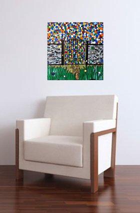 The Mosaic Garden Gate by Rachel  Olynuk