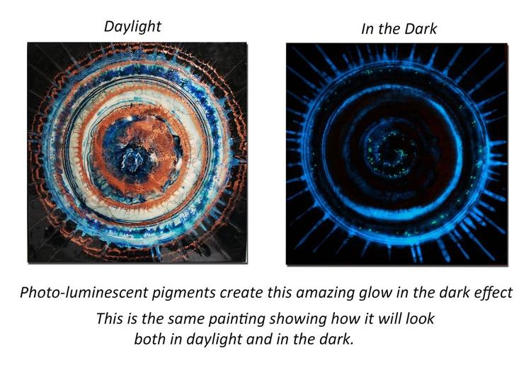 THE NIGHT SKY - Photo-luminescent Resin Painting - Image 0