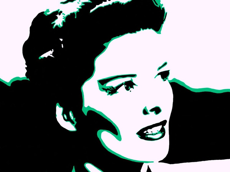 Katherine Hepburn - Premium Poster Print - 28 x 21 cm - FREE SHIPPING - Image 0