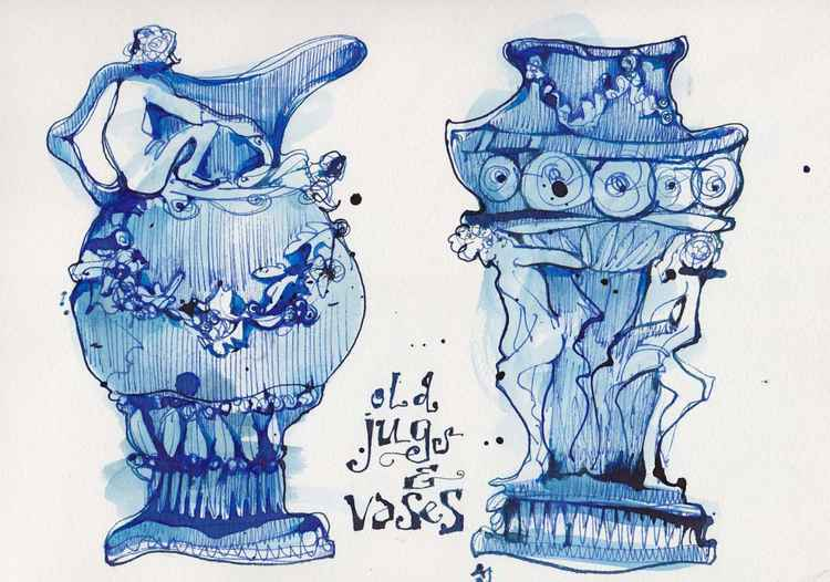 old jugs and vases -