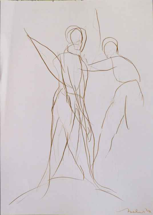 Foliage 9, pencil drawing 29x42 cm -