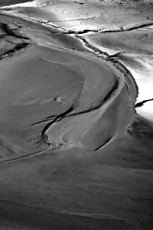 The sands of the Mont St Michel - White and grey - Image 0