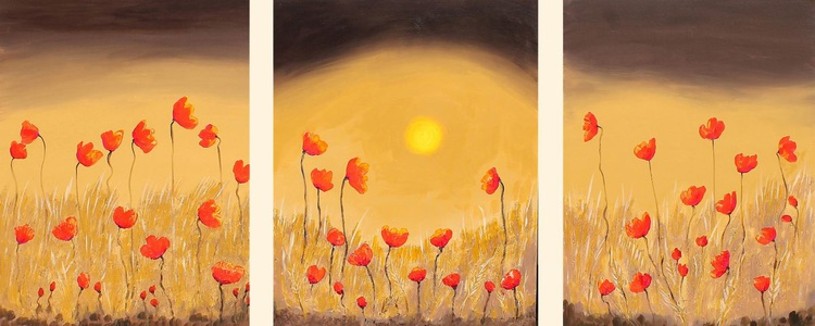 Chocolate Sunset Triptych - Image 0