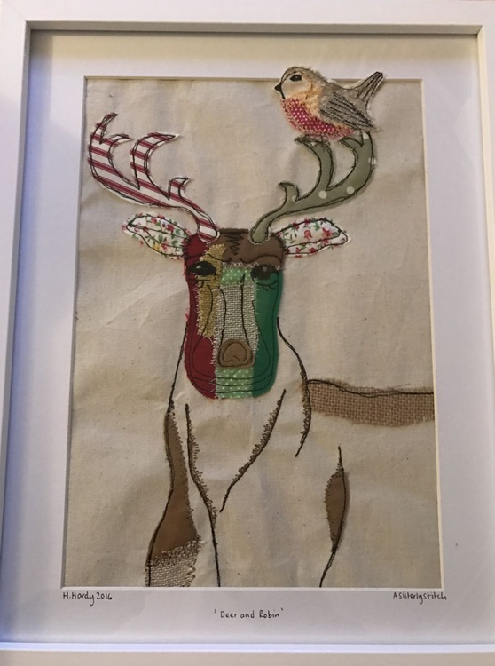 Deer and robin - Image 0