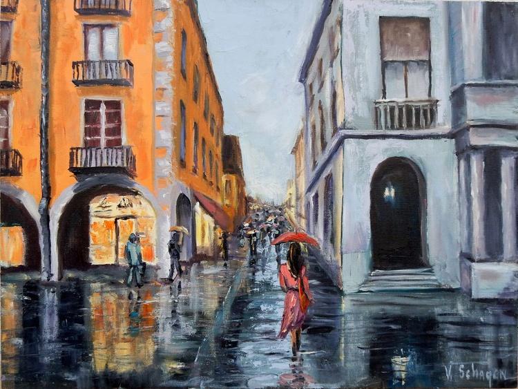 Rainy Cityscape. - Image 0