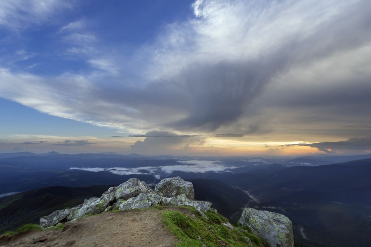 Mountain Slope In Summer At Evening - Image 0