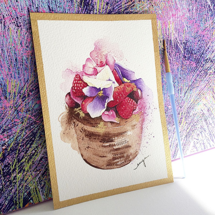 Floral crown mini cake - Image 0