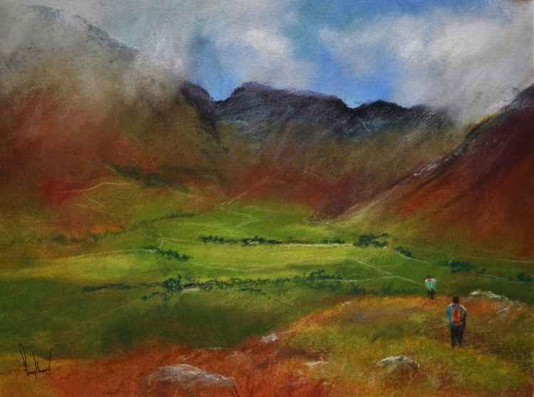 Langdale From Side Pike, Cumbria - Original Pastel Painting