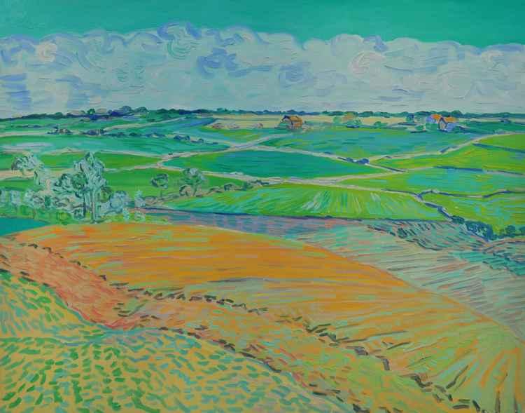 Landscape near Kirton, Near Felixstowe -